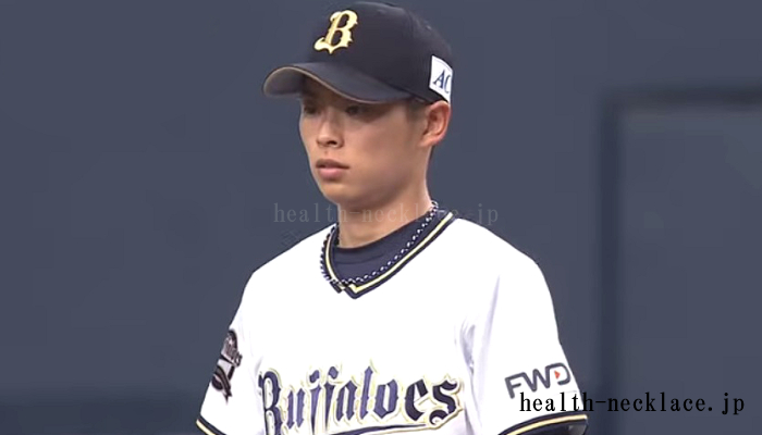 オリックス 山岡泰輔 スポーツネックレス