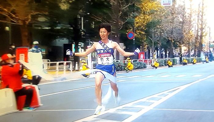 2021年箱根駅伝駒澤大学アンカー石川拓慎選手ゴール