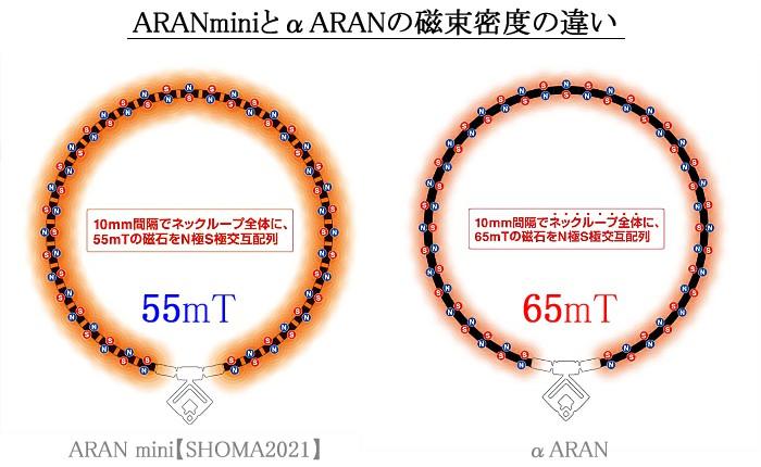 ARAN mini【SHOMA2021】とαARANの磁束密度の違い