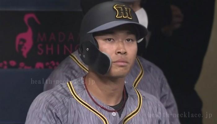 阪神タイガース 佐藤輝明 ファイテンネックレス